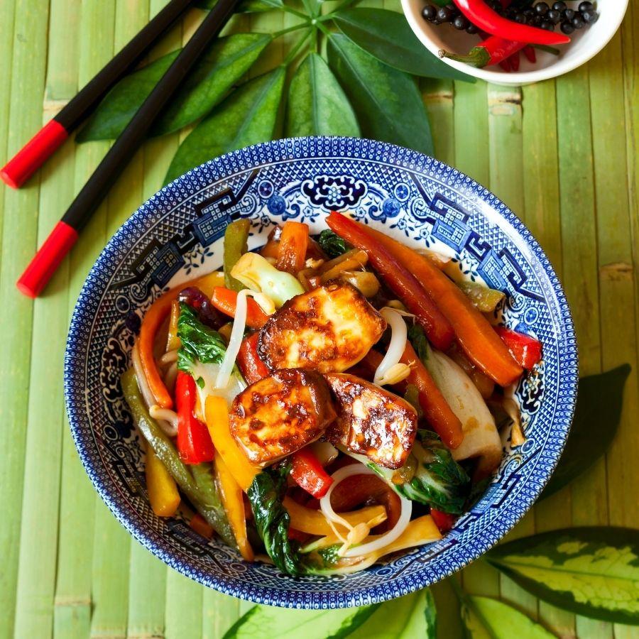 Tofu and Bell Pepper Stir-Fry