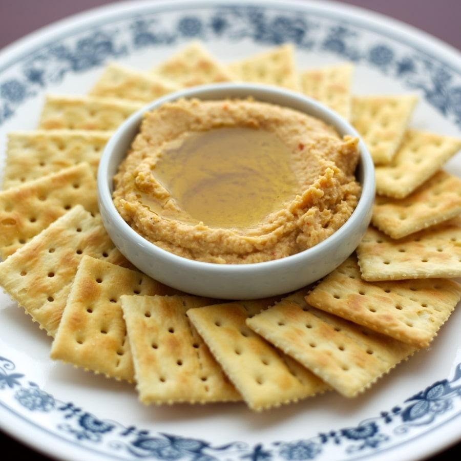 Crackers and Hummus